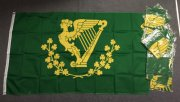 Irish Harp and Shamrocks flag