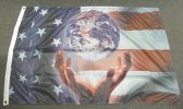 3x5' Patriotic World Flag