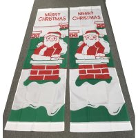 24x87 inch nylon avenue banner - santa chimney design