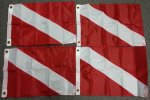 12x18inch nylon skin diver flags