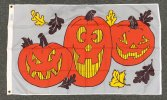 2x5x4' nylon Three Jack O'Lantern flag
