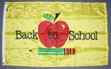 3x5' Back To School Apple nylon flag