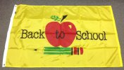 3x5' Back To School Apple flag