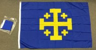 nylon 4x6' Jerusalem Cross Blue/Yellow flag
