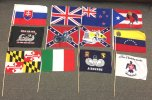 12x18inch Stick Flag Bundle Number 2
