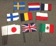 8x12inch Stick Flag Bundle Number 1